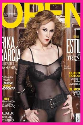 Erika García en Revista Open