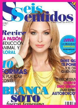 Blanco Soto en Revista Seis Sentidos