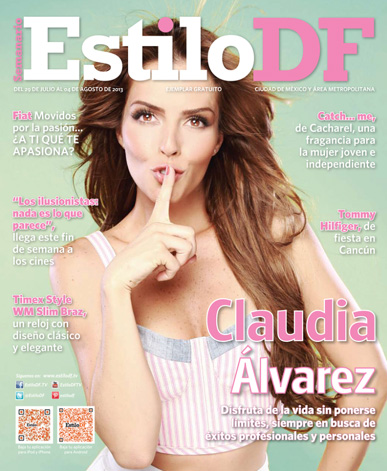 Claudia Álvarez en Revista Estilo DF