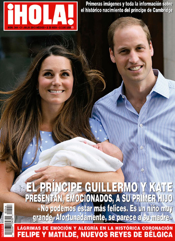 Kate y Guillermo con su hijo en HOLA