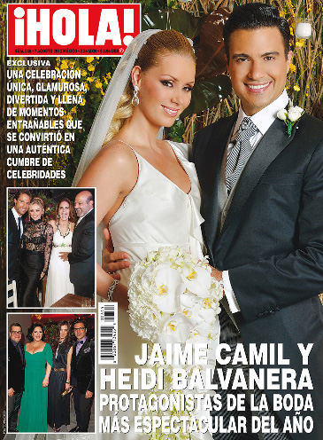 Jaime Camil y su boda en revista HOLA