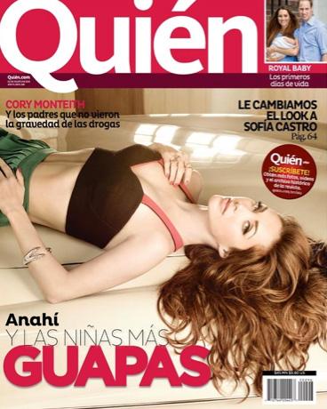 Anahí en Revista Quién y las niñas más guapas