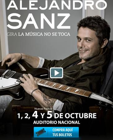 Alejandro Sanz en Auditorio Nacional 3 y 4 de octubre