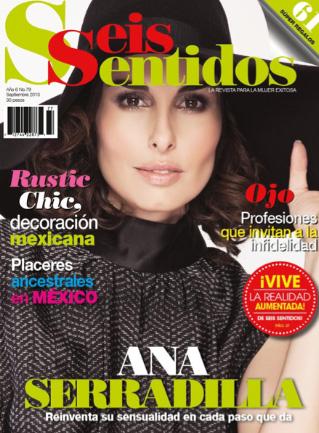 Ana Serradilla en revista Seis Sentidos