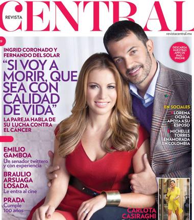 Ingrid Coronado y Fernando del Solar en Revista Central