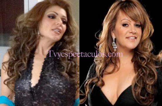 Itati Cantoral caracterizada como Jenni Rivera