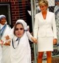 Lucía Méndez con Lady Diana