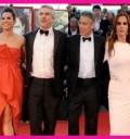 Lucía Méndez con Cuaron y George Clooney