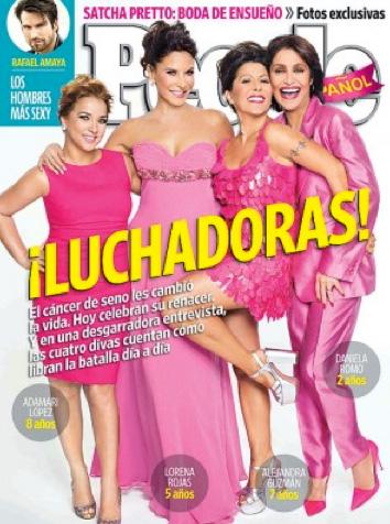 Alejandra Guzmán, Daniela Romo, Lorena Rojas y Adamari López en People