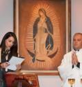 Susana González en misa de Por siempre mi amor