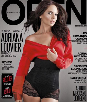Adriana Louvier en Revista Open