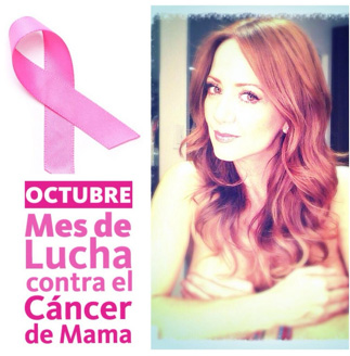 Andrea Legarreta se quita la ropa por la lucha contra el cáncer de mama
