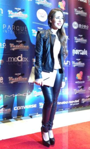 Danna Paola en el estreno de Vaselina