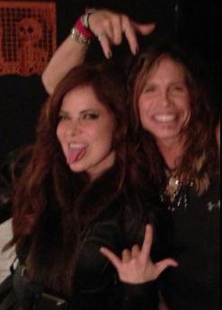 Gloria Trevi disfrutó del concierto de Aerosmith