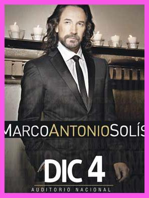 Marco Antonio Solis 4 de diciembre en Auditorio Nacional