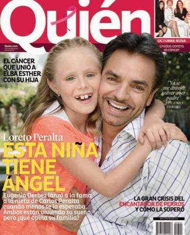 Eugenio Derbez y Loreto Peralta en Revista Quién