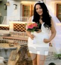 El sexy vestido de novia de Wendolee