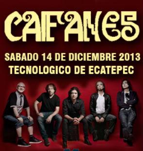 Caifanes 14 de diciembre en Tecnológico de Ecatepec