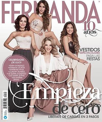 Marimar Vega, Edith González y Mariana Ochoa en Revista Fernanda