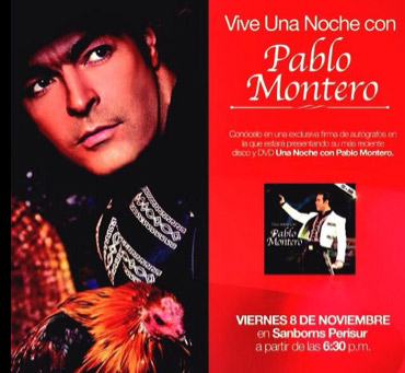 Firmas de autógrafos de Pablo Montero