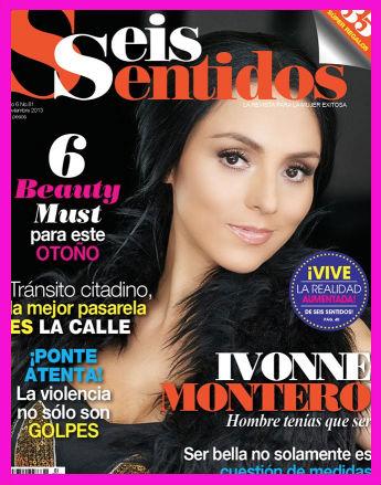 Ivonne Montero en Revista Seis Sentidos