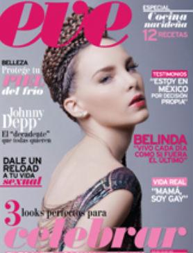 Belinda en portada de Revista Eve