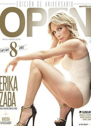 Érika Zaba en revista Open