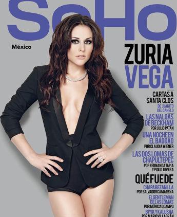 Zuria Vega en portada de SoHo