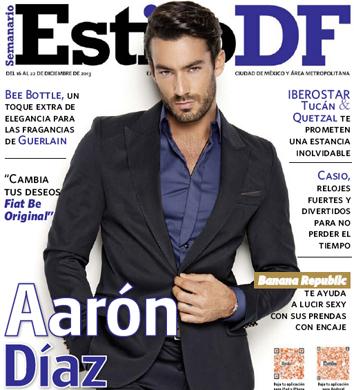 Aarón Díaz en portada de revista Estilo DF