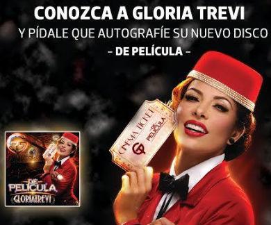 Firma de autógrafos de Gloria Trevi 23 de enero