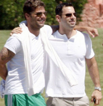 Ricky Martin y Carlos González