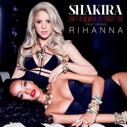 Portada de Can´t remember to forget you de Shakira con Rihanna