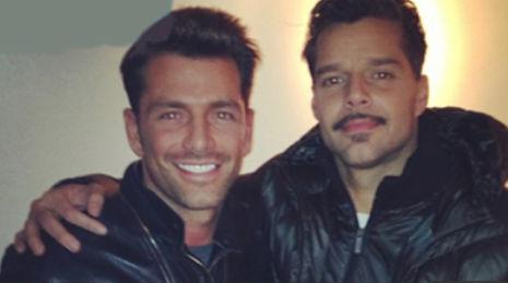 Ricky Martin y Federico Díaz