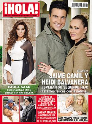 Jaime Camil y Heidi Balvanera esperan su segundo hijo