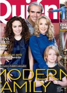 Edith González y su familia en revista Quién