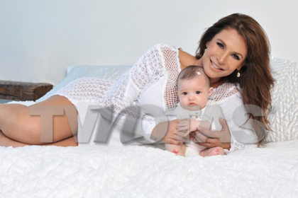 Lorena Rojas y su bebé