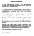Comunicado de Verónica del Castillo