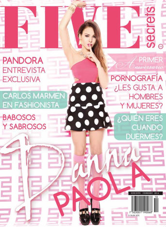Danna Paola en Revista Five Secrets