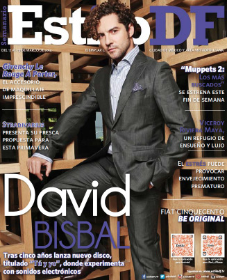 David Bisbal en revista Estilo DF