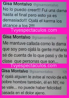 Mensajes de Gisa a Oscar de OV7