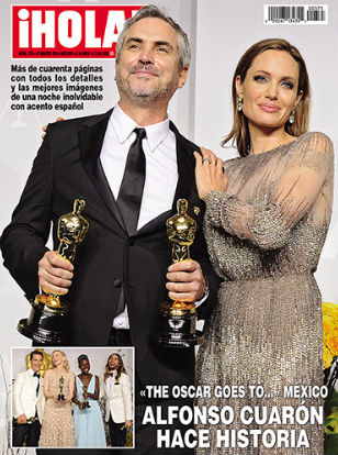Alfonso Cuarón y Angelina Jolie en Revista HOLA