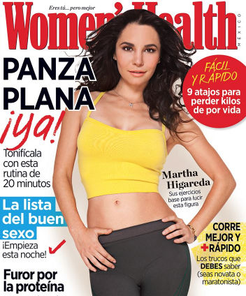 Martha Higareda en Revista Women´s Health