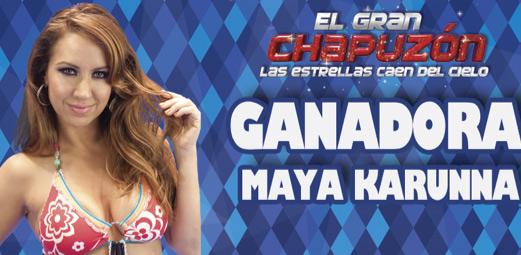Maya Karunna ganadora de El Gran Chapuzón
