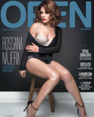 Rossana Nájera en revista Open
