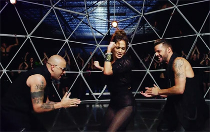 Wisin, Ricky Martin y JLo en video Adrenalina
