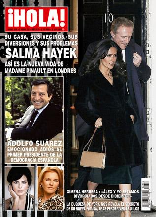 Ximena Herrera y Alex Sirvent en revista Hola