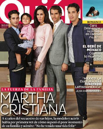 Martha Cristiana habla del secuestro de sus hijos