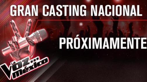 Cartel casting La Voz México