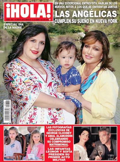 Angélica Vale y Angélica María en Revista HOLA