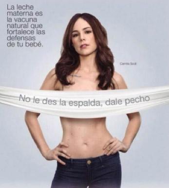 Camila Sodi en Campaña Pro Lactancia